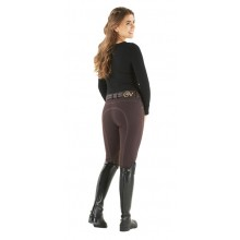 Ovation® Euro Melange Zip Front Knee Patch Breeches - Ladies'