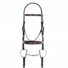 Camelot™ Fancy Stitched Round Wide Padded Monocrown Bridle with Reins