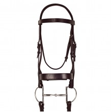 Ovation® Classic Wide Hunt Bridle with Laced Reins