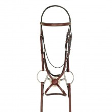 HK Americana Fancy Raised Padded Figure-8 Bridle with Fancy Rubber Grip Reins
