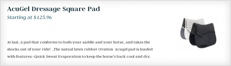 AcuGel Dressage Square Pad